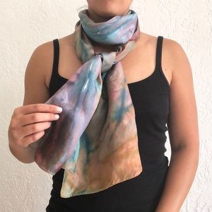 FREE with bundle! Watercolor print 100% silk scarf